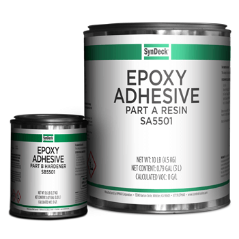 Image of SynDeck Epoxy Adhesive SS5501 Parts A and B Cans