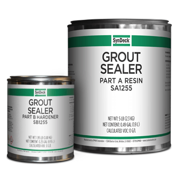 Image of SynDeck Grout Sealer SS1255 Parts A and B Cans