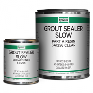 Image of SynDeck Grout Sealer Slow SS1256 Parts A and B Cans