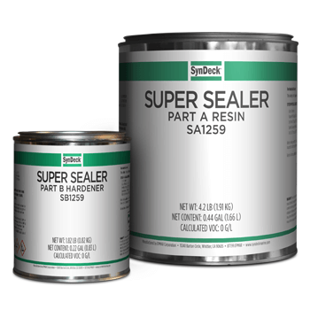 Image of SynDeck Super Underlayment Sealer SS1259 Parts A and B Cans