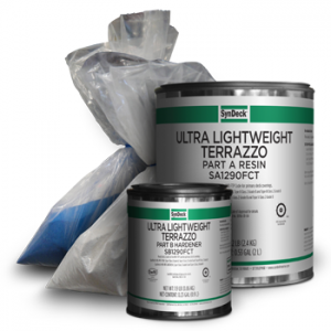Image of SynDeck Ultra Lightweight Terrazzo SS1290FCT Parts A, B and C Cans and Bags
