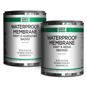 Image of SynDeck Waterproof Membrane SS2102 Parts A and B Cans